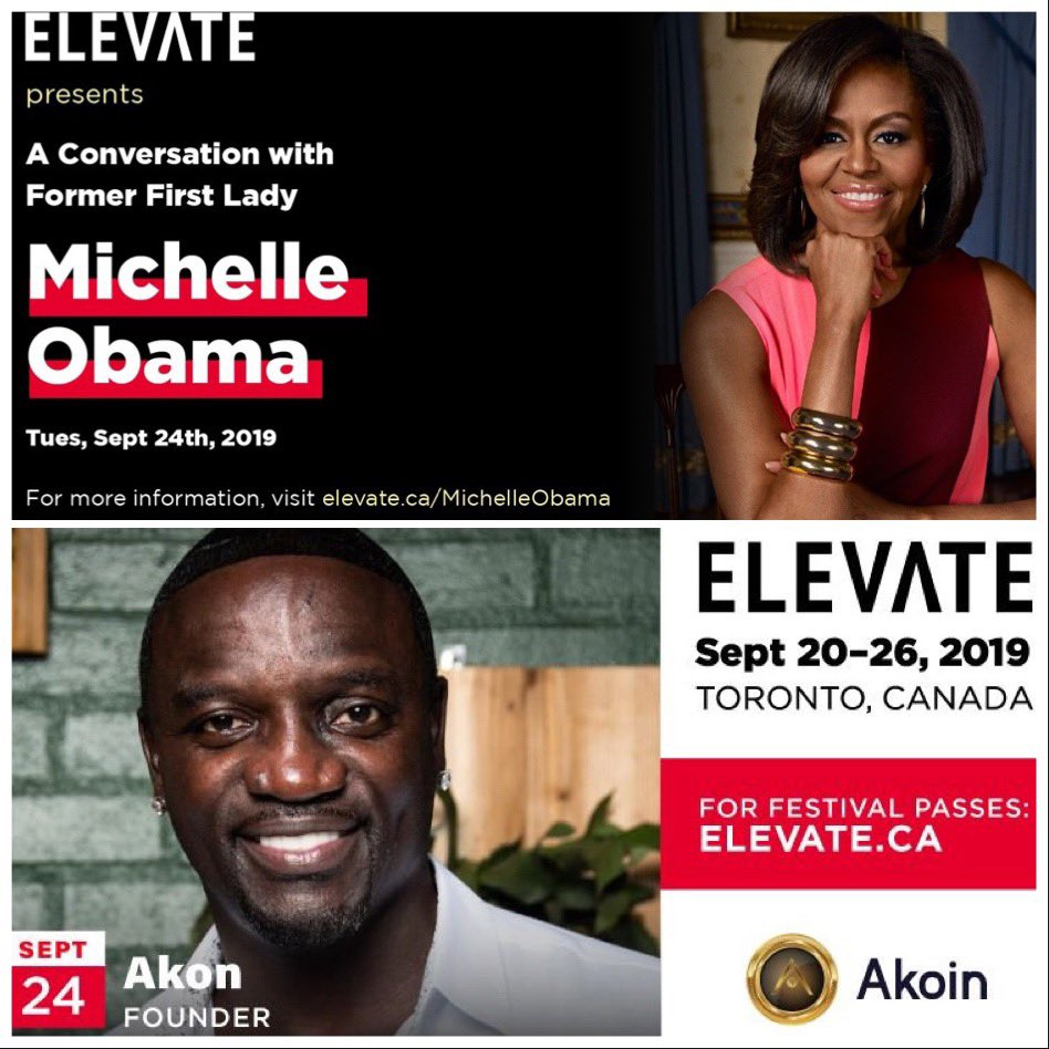 Looking forward to this! #ElevateTechFest @MichelleObama  #Toronto #Canada 20-26 September https://t.co/TkE8UbjZOy