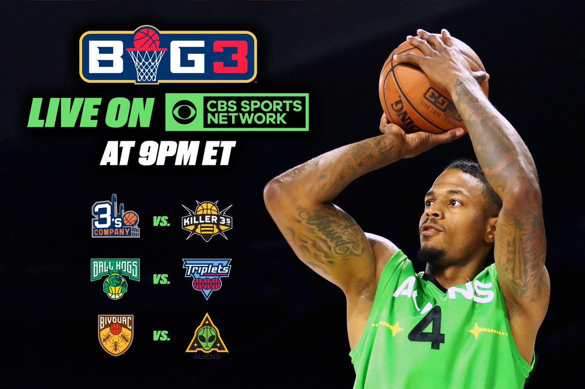 RT @thebig3: Watch #BIG3Basketball tonight at 9PM ET on @CBSSportsNet ???????????? https://t.co/QmSOBT7iIj