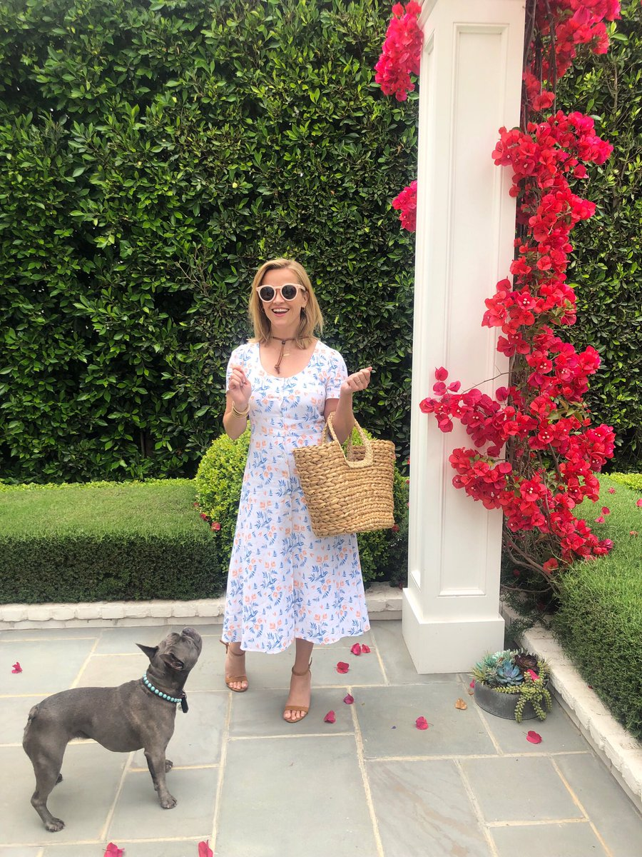 Pepper thinks there's bacon in my purse... ???? (dress by @draperjames) https://t.co/wcy2CzEyo7