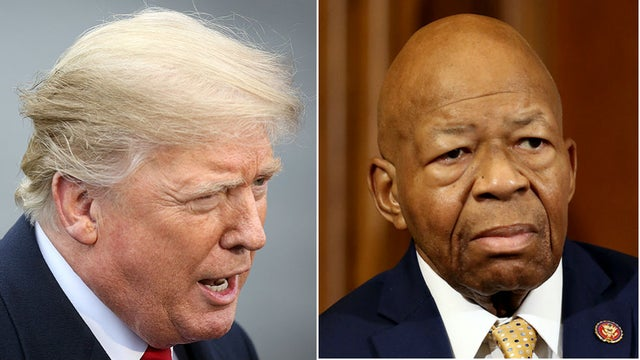 Trump sends more than a dozen tweets over weekend attacking Cummings and Baltimore