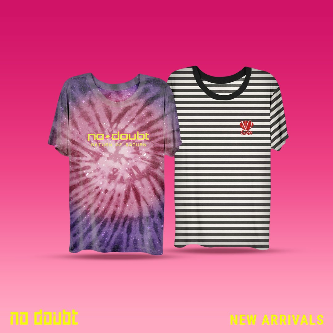 Take a look at the new merch just added to the official No Doubt store! https://t.co/lAyy9U94J7 https://t.co/1ZcWFsVYqo