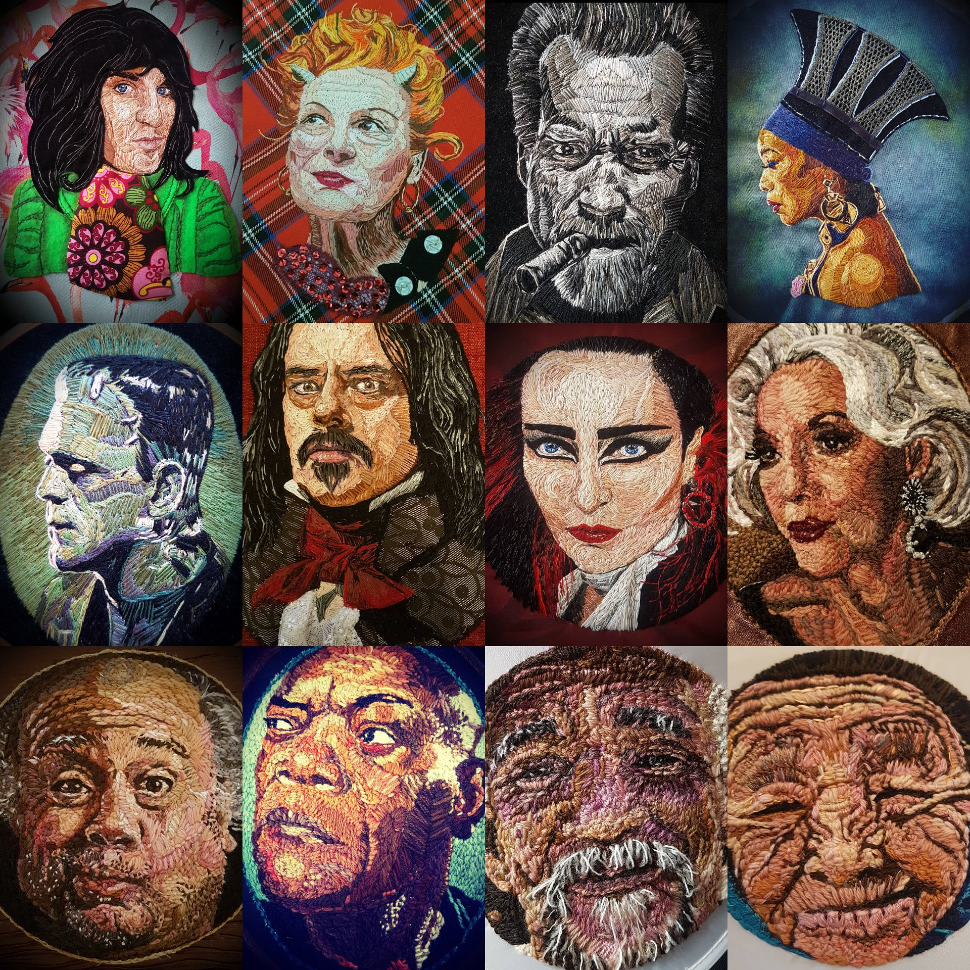 Happy 'World Embroidery Day' #embroidery #embroidered #portraiture https://t.co/THXn9cGlgA