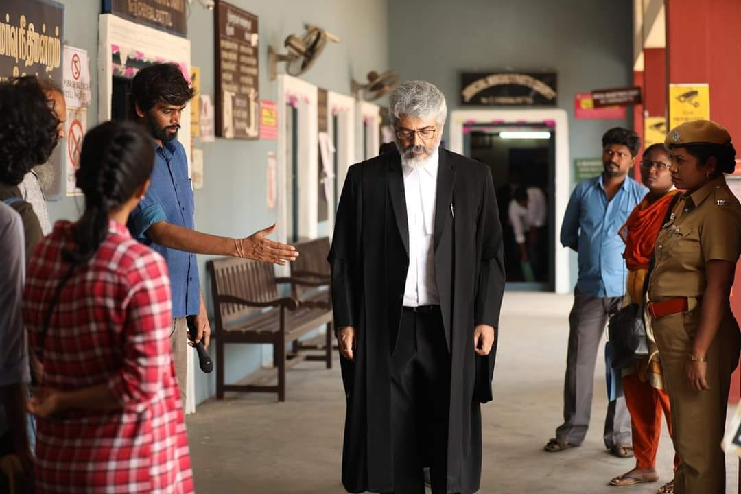 #NerkondaPaarvai A star in the stature of Ajith sir, taking a decision to remake 'Pink' - the film and the message 'No means No' has reached the maximum now. A genuine and powerful film. Hearty wishes to the entire team!!!