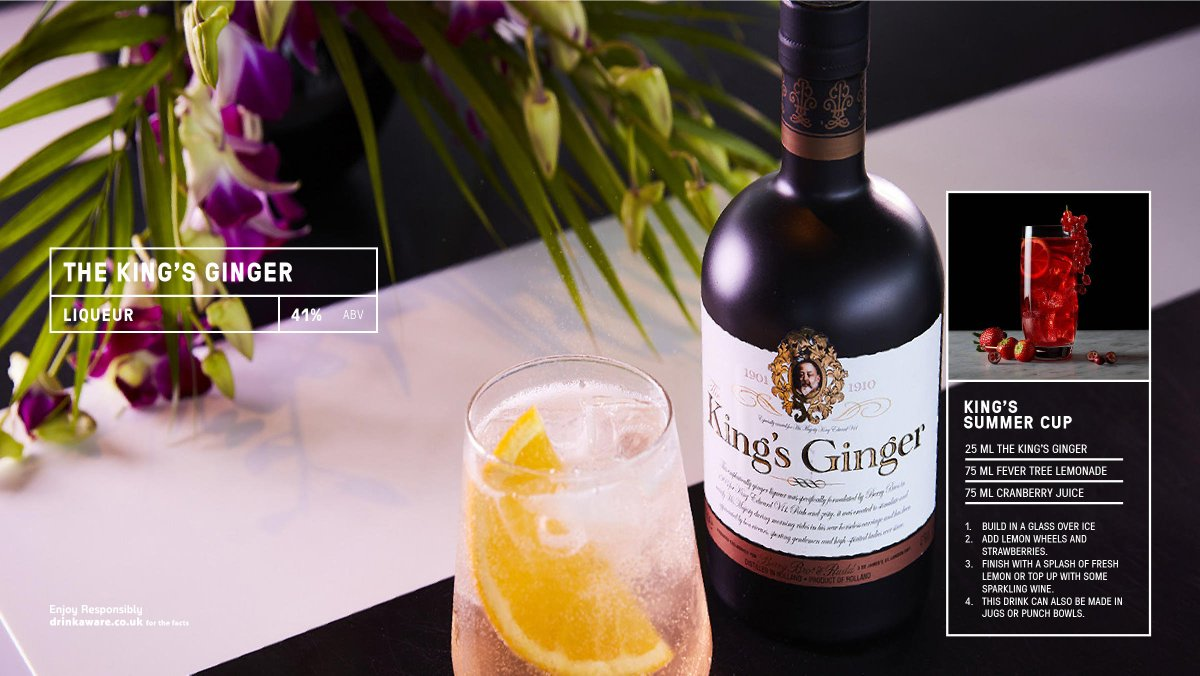 @TheKingsGinger is crafted by careful maceration of the ginger root, & enlivened by the judicious addition of citrus lemon oil. Magnificently syrupy & gingery, gently fiery with aromas of orange marmalade, honey & lime. #bestofbritain #ginger  Read more https://t.co/IjKKfyaIpU https://t.co/uwSSKkwAw9