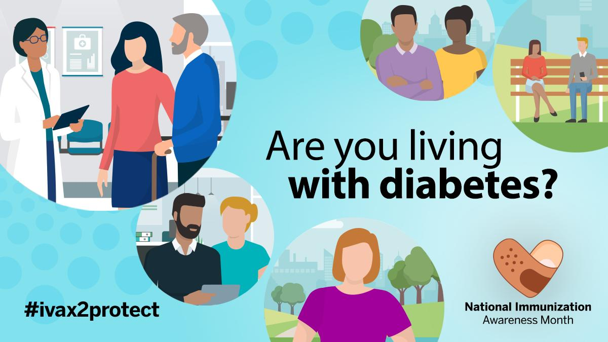 test Twitter Media - If you are living with #diabetes, you may be at greater risk for complications from vaccine-preventable diseases.     Find out which vaccines you need to maintain a healthy lifestyle: https://t.co/3JtLk39pGe. https://t.co/TIIUXmkqum