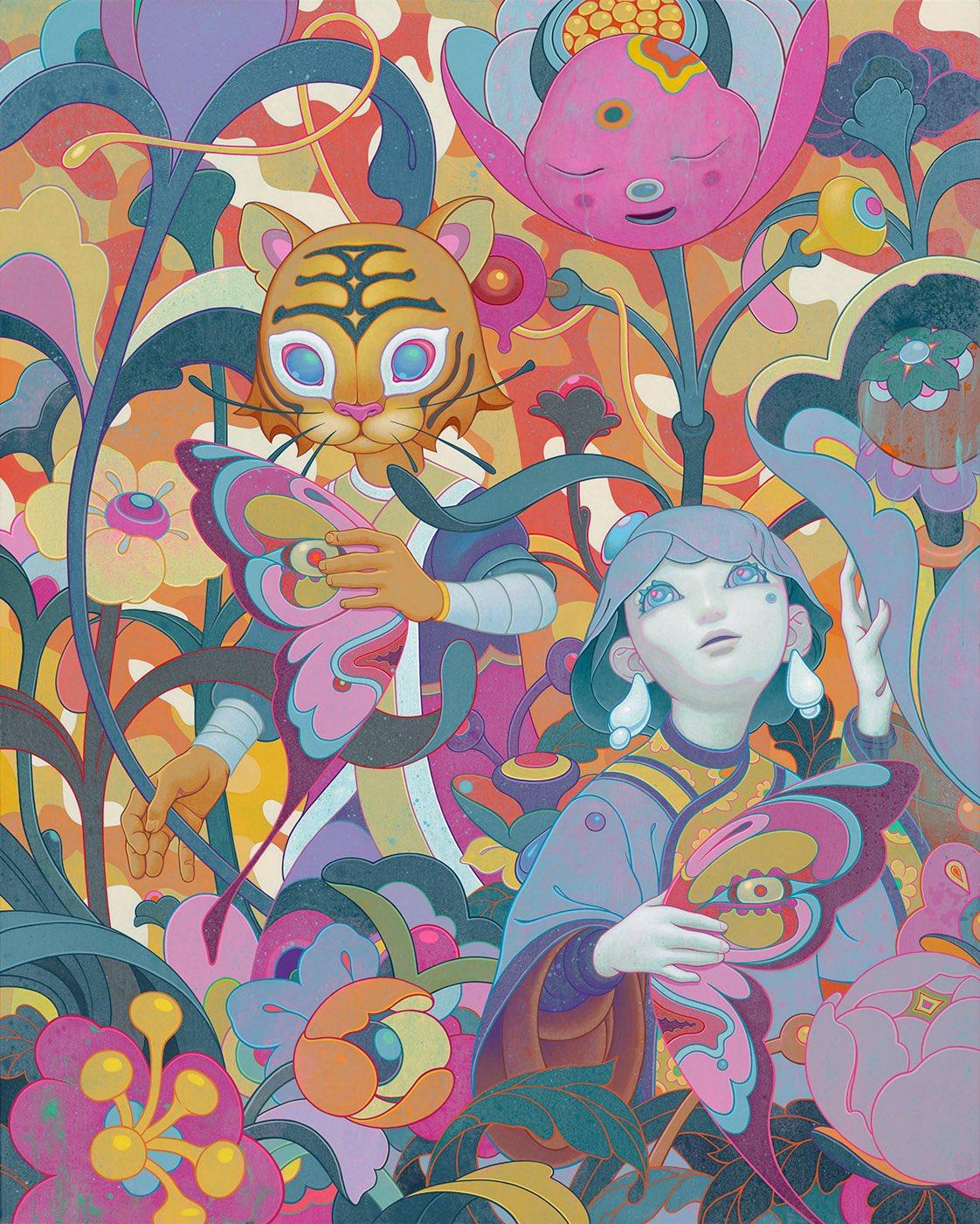 "✨ New work: Monarch. Acrylic on Canvas, 48x60"", 2019. https://t.co/8shJLSTNq1"