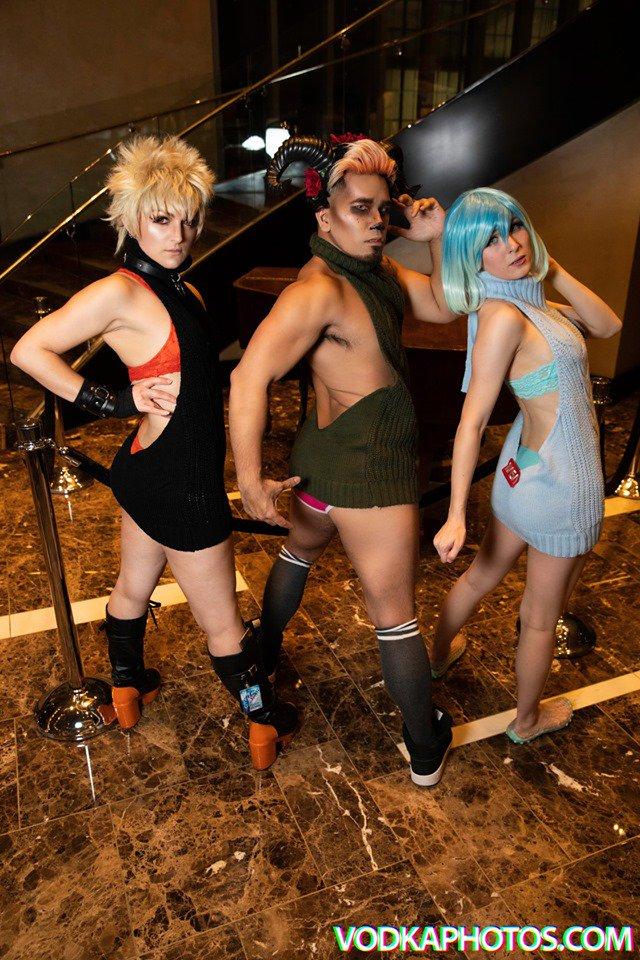test Twitter Media - Ineedsugar, Remy Domino Cosplay, and Shinrajunkie rocking the VKS. #vodkaphotos #cosplay #virginkillersweater #vks Full gal: https://t.co/3kgU69LMqB https://t.co/bHcIOkwzTy