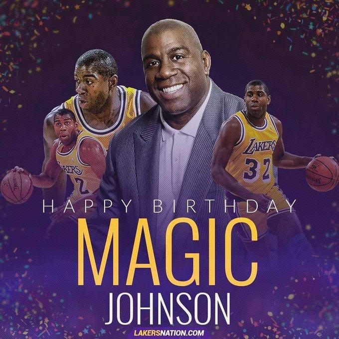 "Happy 60th Birthday, Earvin \""Magic\"" Johnson"