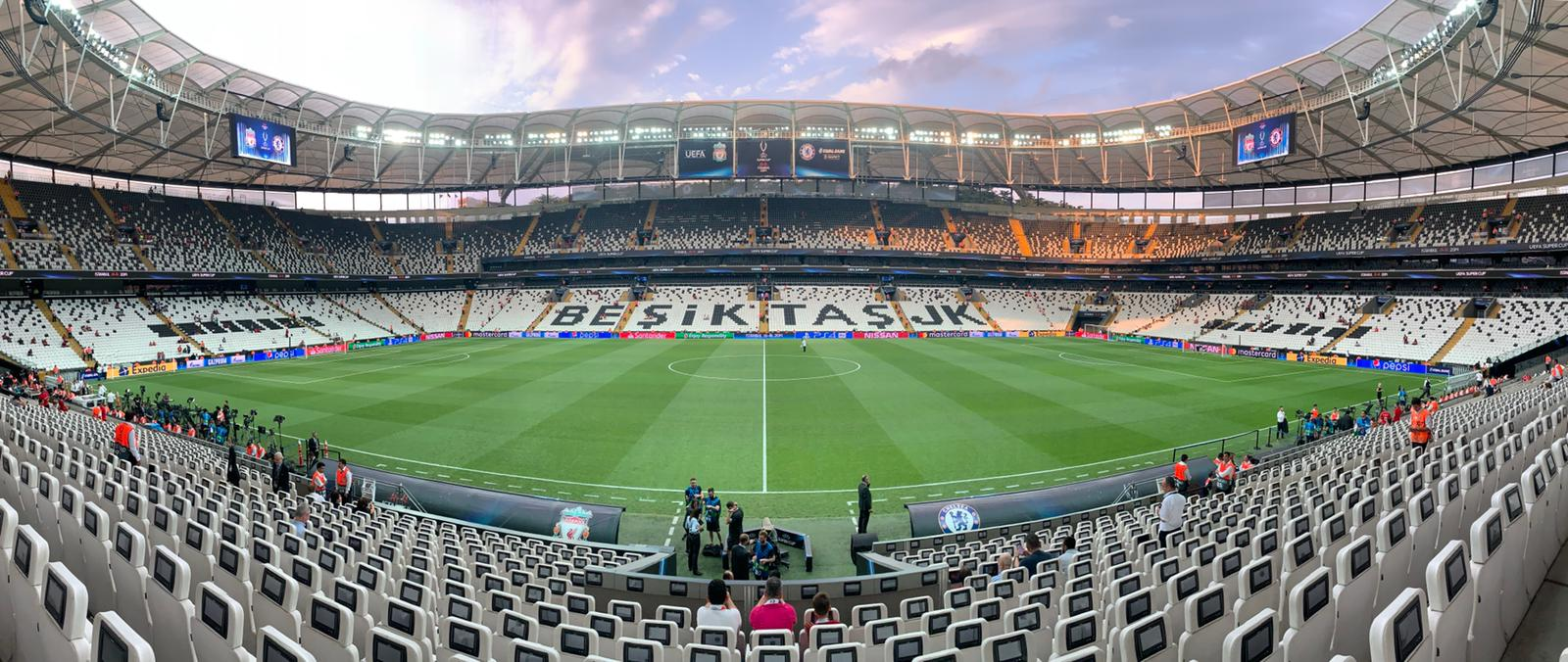 Tonight's venue 😍  Ready for another big European evening 👌 #SuperCup https://t.co/fpS7VRuvwU