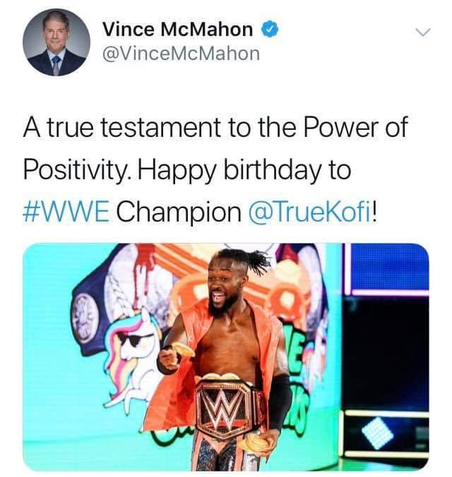 Happy 38th bday to WWE Champ Kofi Kingston