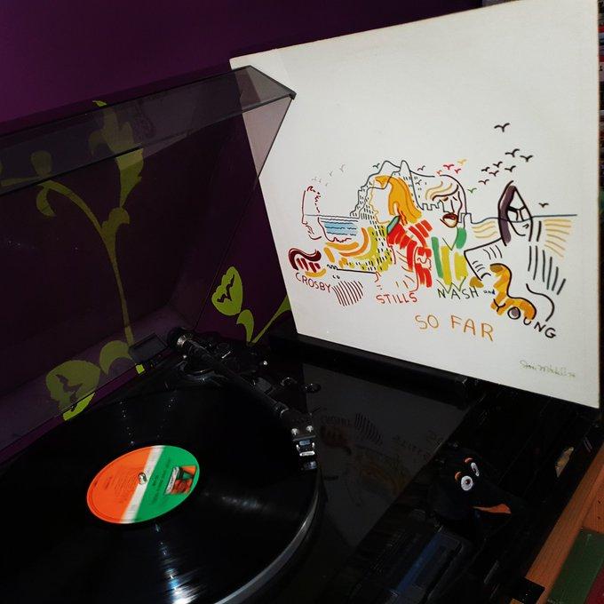 Happy Birthday David Crosby *78*! Crosby, Stills, Nash & Young - So far (Atlantic Records/1974)