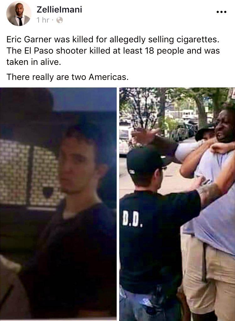 #ThisIsAmerica ‼️ #PoliceOfficersEverywhere #GOP #ElPasoShooting #NRAIsATerroristOrganization @realDonaldTrump @EPPOLICE #ElPasopolice #elpasotexas #elpasowalmart #DomesticTerrorism #BlackLivesMatter #ICantBreathe #whitemaleterrorist #WhiteSupremacy #WhitePrivilege #Blacktwitter https://t.co/nJ7mmgTQTT