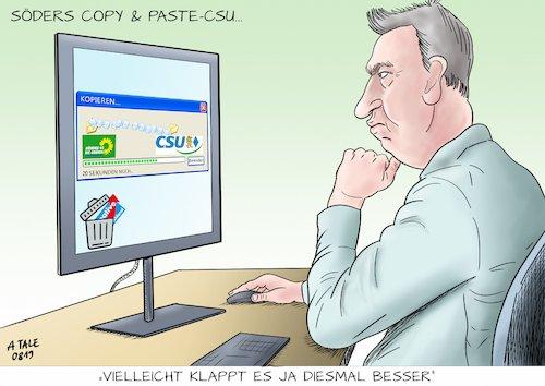 Wie #Söder der Plagiator die Copy and Paste #CSU erfindet  (Cartoon A Tale) https://t.co/DxzYGFRxPz