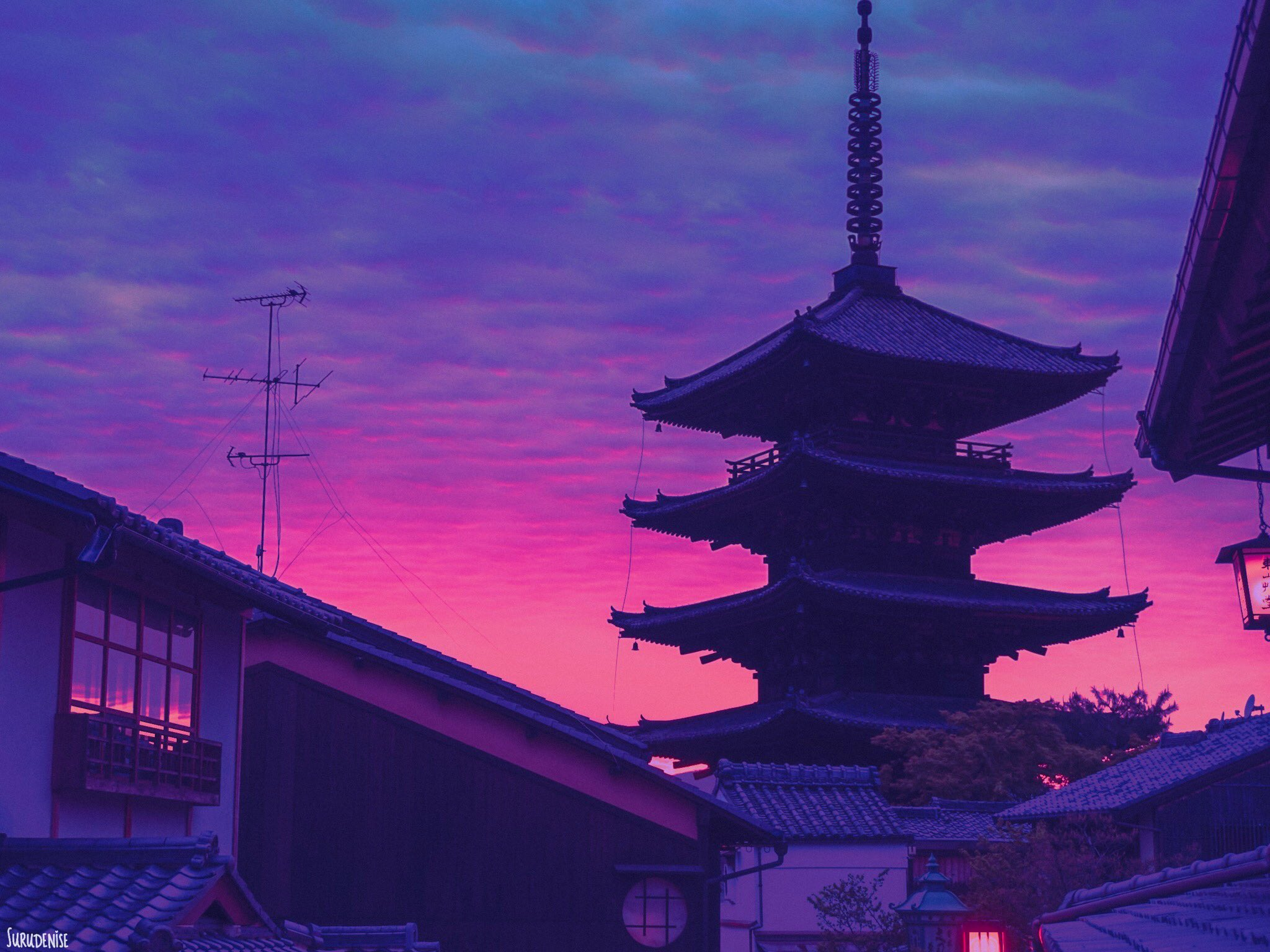 Sunset in Kyoto https://t.co/Mixqaruynz