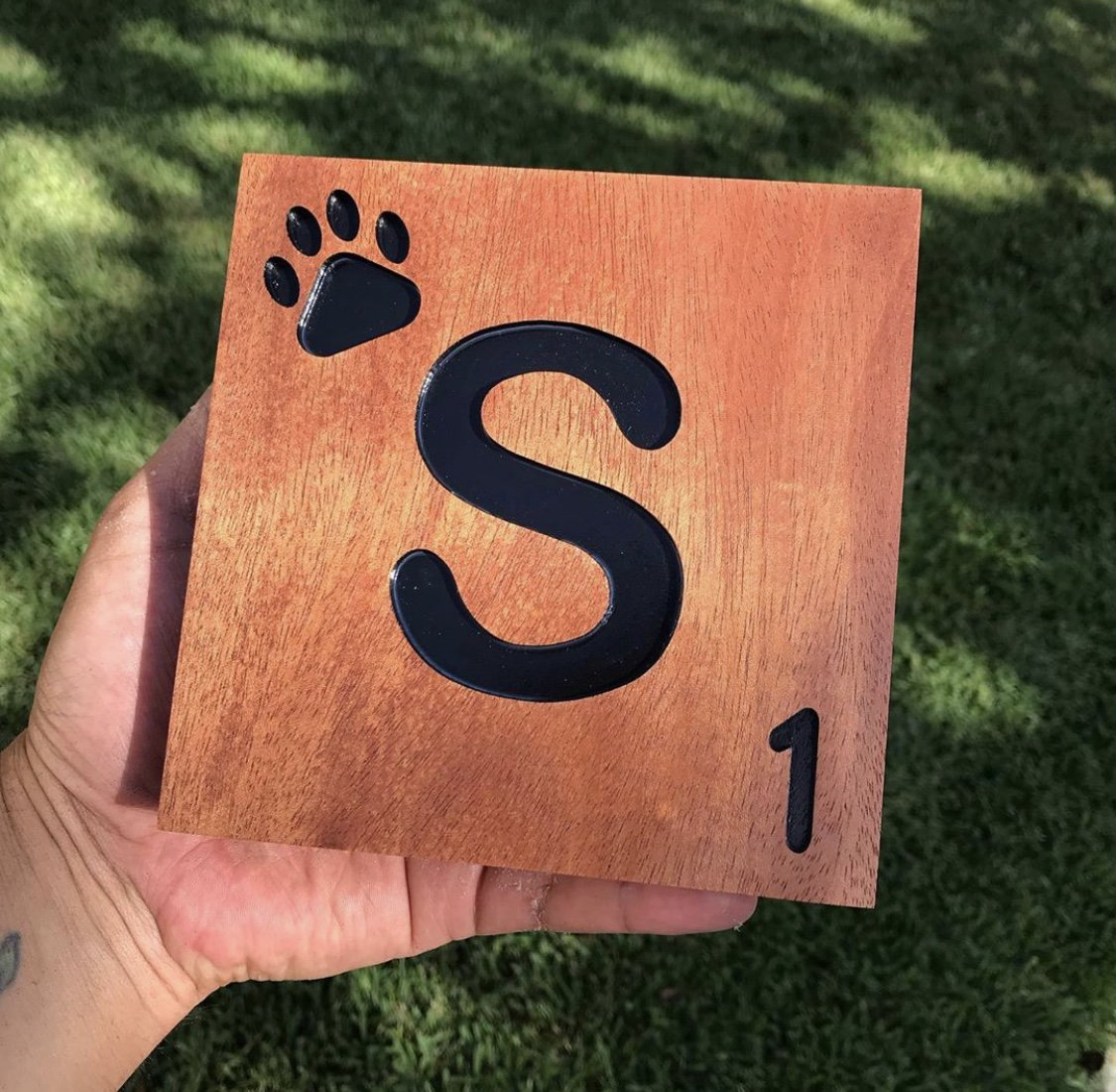 Mahogany Scrabble tiles by Tala Woodworks of Texas! ❤️ Y-E-S, P-L-E-A-S-E! https://t.co/3l46CwGNOs