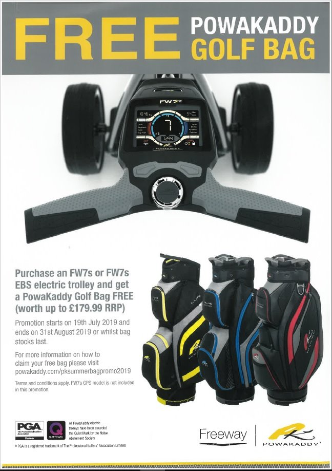 test Twitter Media - The Shop @CottrellParkLtd is bursting with #offers!  FREE @PowaKaddy_Golf Bag when you purchase a PK FW7. Plus a FREE accessory (worth £29.99) when you buy any electric #trolley.  FREE @UnderArmour  #gift when you purchase a pair of UA shoes.  And... 25% OFF all our golf bags!!! https://t.co/Ascc3Lay4I