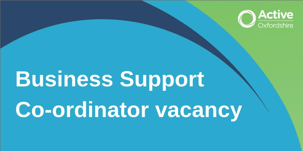 JOB ALERT: We are seeking an enthusiastic and committed business support co-ordinator to join the heart of our busy and ambitious team to ensure we are organised and efficient. https://t.co/W0MGl6cyNP #jobsinsport #charityjobs #oxonjobs