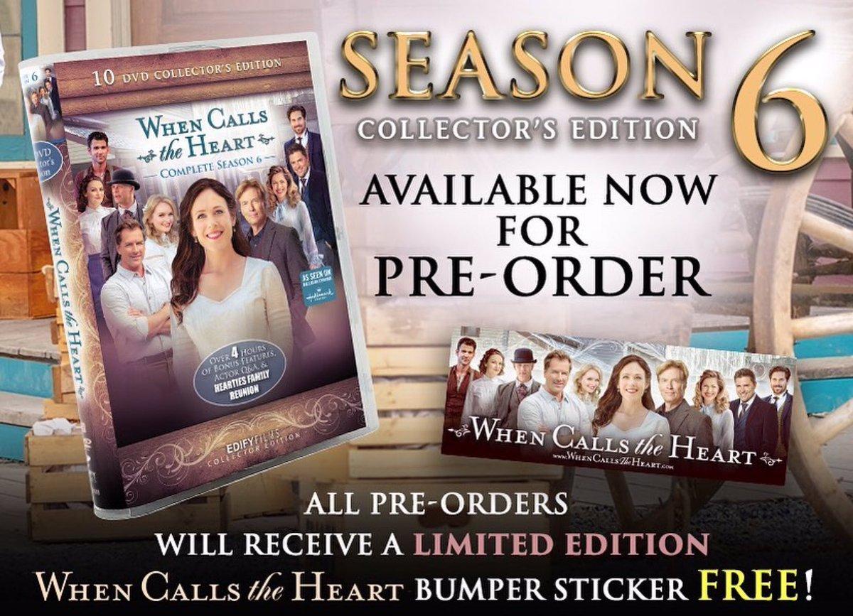 Season Six! Preorder now at https://t.co/qbJVAXMZTn! #Hearties #WhenCallsTheHeart #Preorder https://t.co/33DuXz6E7t