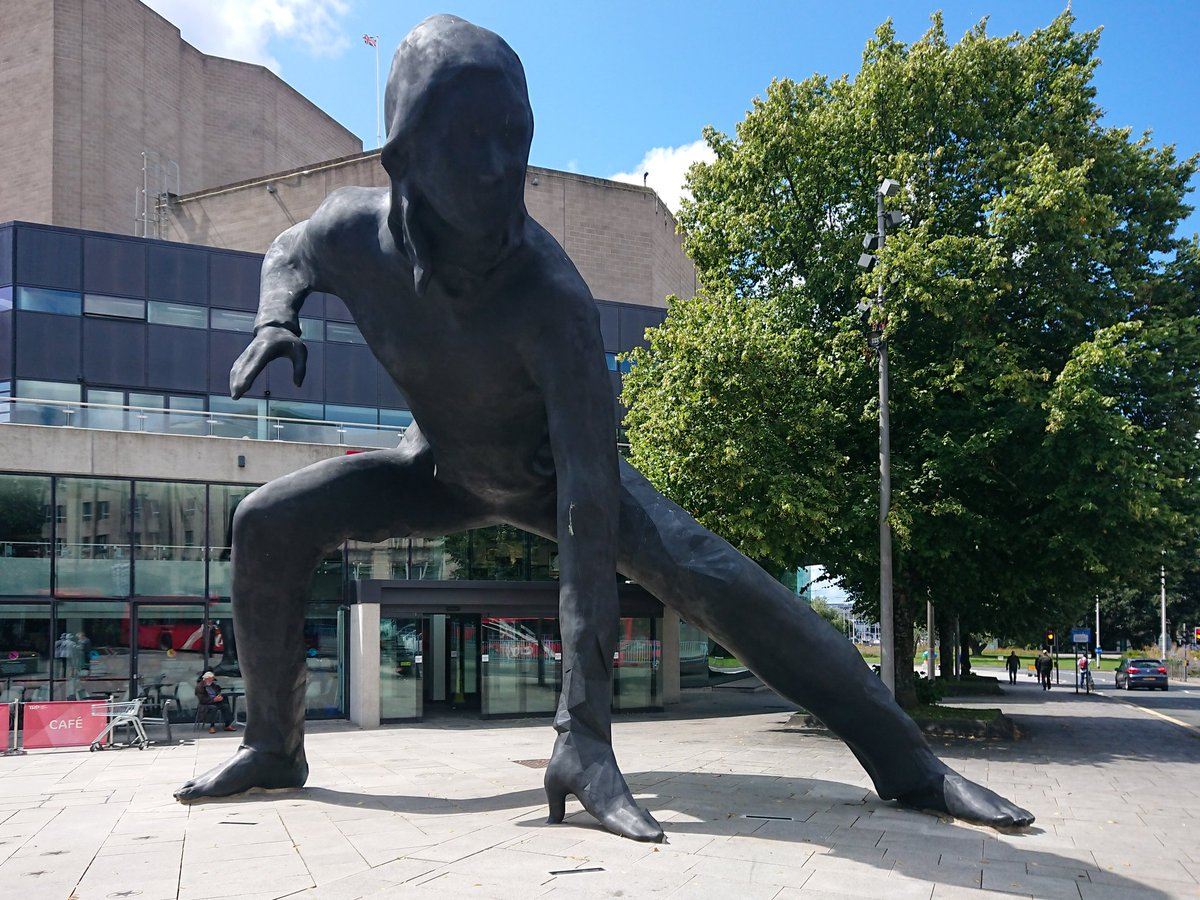 test Twitter Media - The Theatre Royal Plymouth Messenger; a metaphor for what great theatre does. It is certainly a large, and yet somehow dignified, structure. #Plymouth #Art #Statue #Threatre #Messenger#BritainsOceanCity https://t.co/YTnAl7OOeX