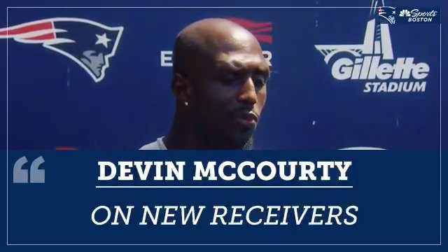 """Devin McCourty on the new receivers: """"It's fun to see these guys get better."""" https://t.co/cU7Et3HCnR"""