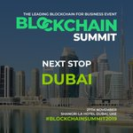 #BlockchainSummit2019 continues! Next stop: Dubai, 27th November. https://t.co/awj5GJEbGN https://t.co/ZmPx5L13NO