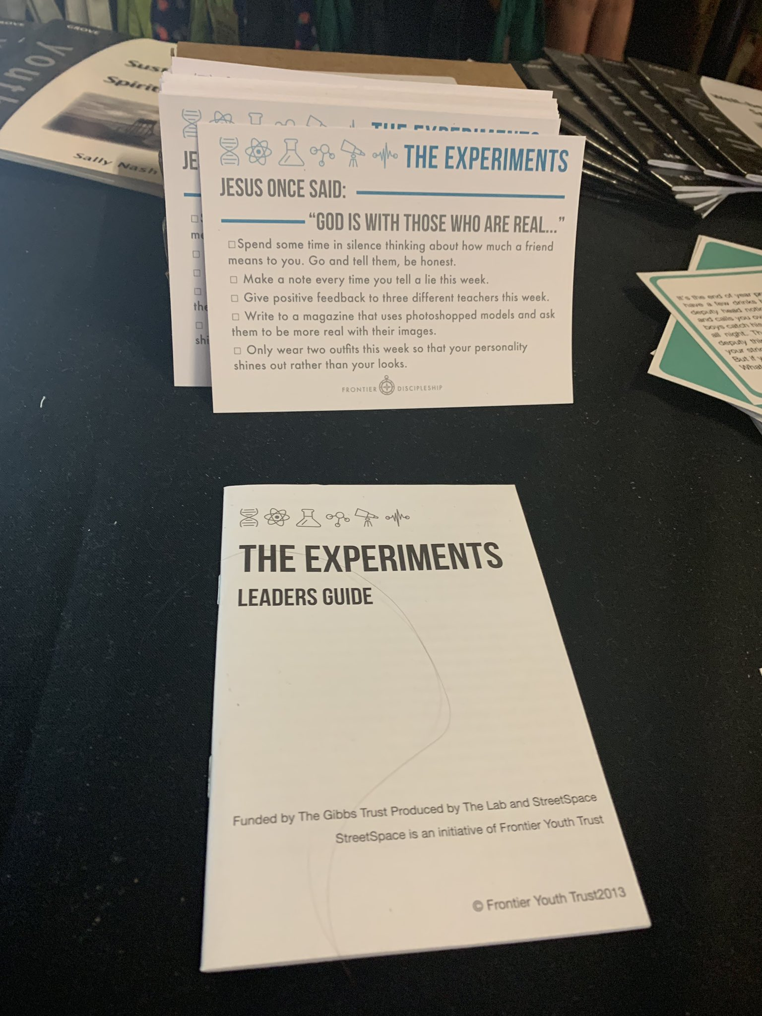 The Experiments is a 10 week discipleship resource that's experimental and reflective, based on the Beatitudes. Head over to the Toolshed to buy your copy! #soulsurvivor19 https://t.co/6rFh3VACOA