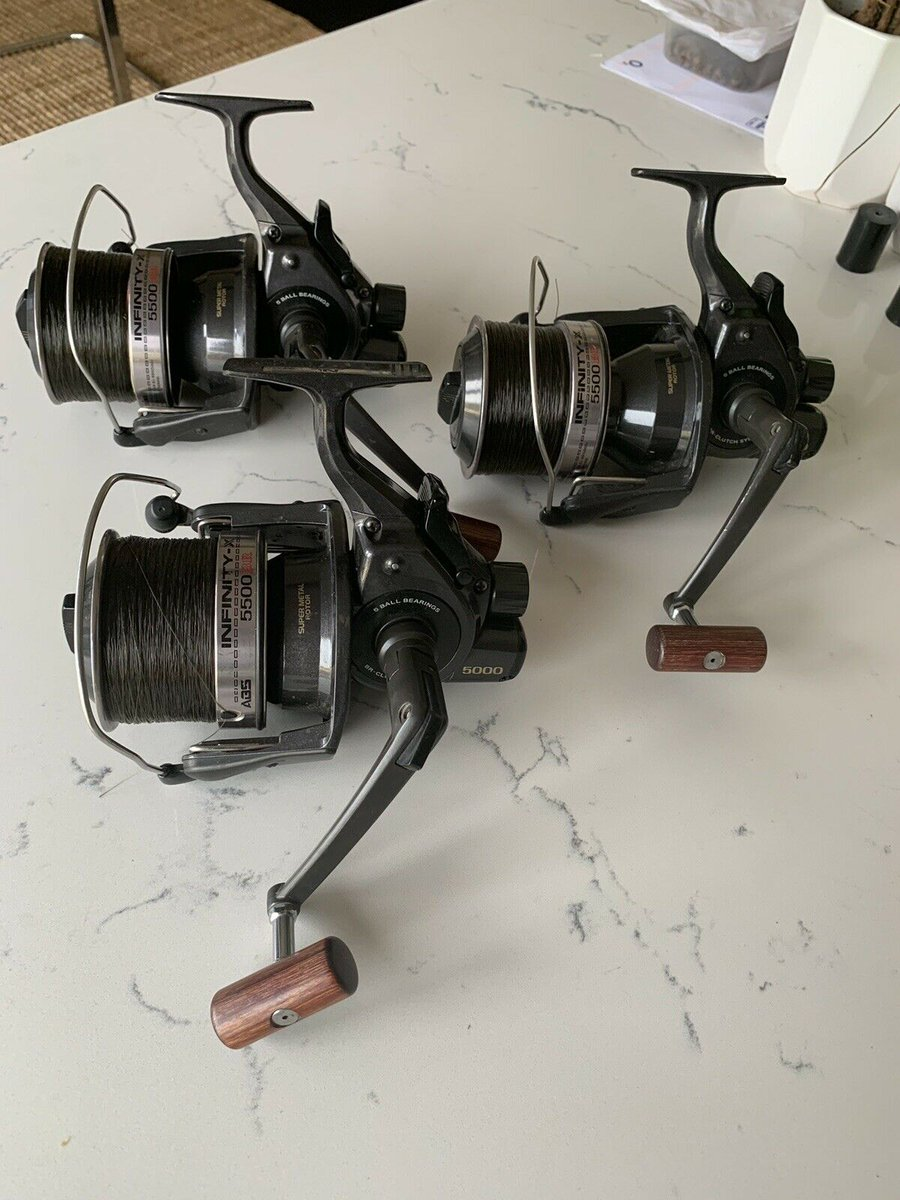 Ad - 3x Daiwa Infinity 5500 BR Carp Reels On eBay here -->> https://t.co/WolPeoqEc4  #carpfish