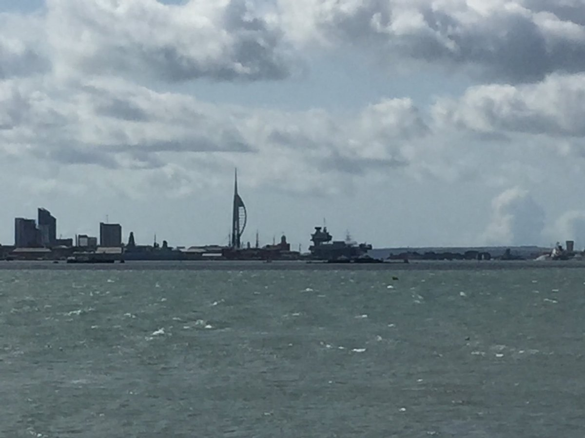 test Twitter Media - Now back in Portsmouth after two amazing days in Turin. I've got visitors so am taking them round Portchester Castle from which you get this splendid view of the harbour and the new aircraft carrier. Have a great Feastday today of Our Blessed Mother's Assumption into Heaven! https://t.co/JtxDt3m9wN