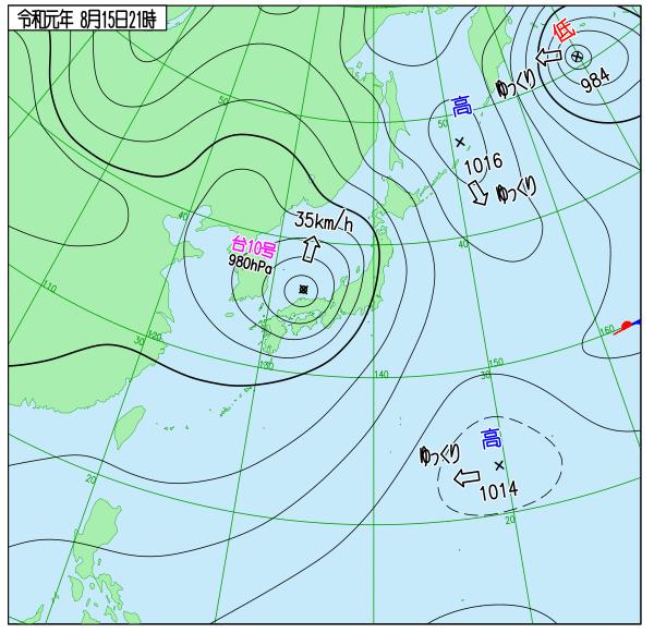 test ツイッターメディア - 大型の台風10号(クローサ)15日21:00の中心気圧980hPa、中心付近の最大風速25m/s、最大瞬間風速35m/s。松江市の北約80kmを35km/hで北へ。 気象庁 https://t.co/nHtJFPdFDC https://t.co/Xg1BK012Uz https://t.co/a2MmeOl0xo Joint Typhoon Warning Center (JTWC) https://t.co/kajXueFOmV https://t.co/VKFxPbTdnt