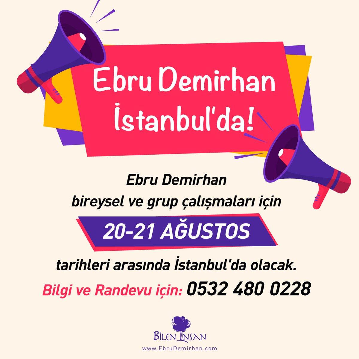 Ebru Demirhan İstanbul'a geliyor!  #ebrudemirhan #yasamtasarimmerkezi #bileninsan #kisiselgelisim https://t.co/3HLCysWAGt