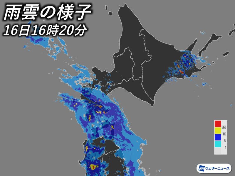 test ツイッターメディア - 台風10号の東側に広がる雨雲や、南からの湿った空気による雨雲で北海道の一部ではすでに雨が強まっています。総雨量は多い所で200mmに達する見込みで、土砂災害や河川の増水、冠水被害などに警戒が必要です。 https://t.co/pPDA4xRl1A https://t.co/r0KcWM5GJm