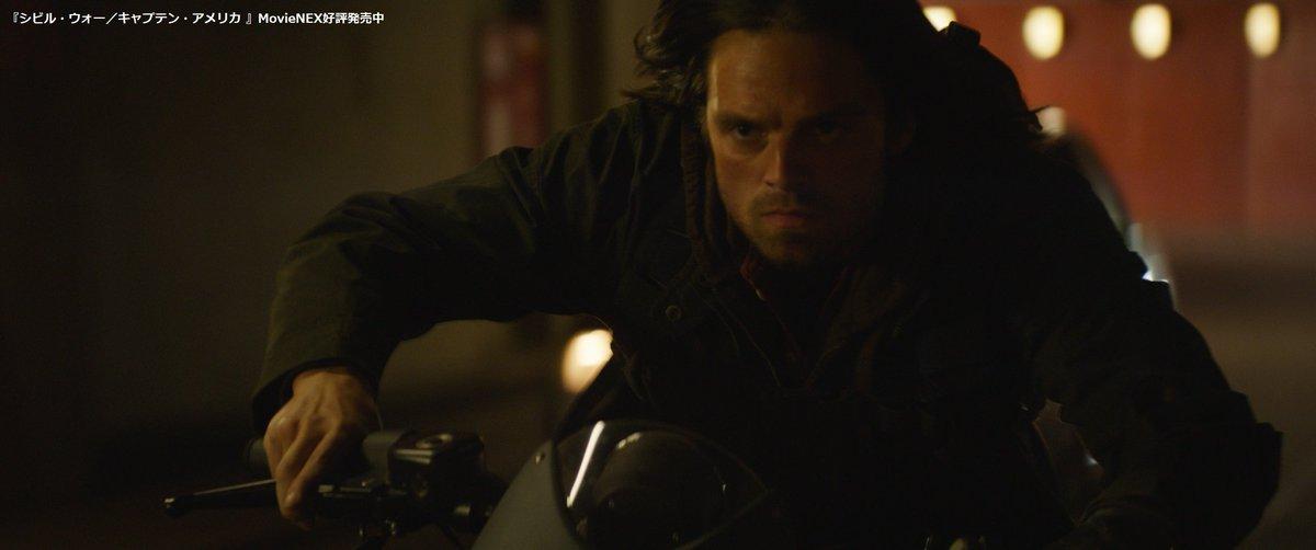 test ツイッターメディア - 今日(8/19)は #バイクの日🏍️💨  ✨ここでクイズ!✨  バイクで逃走する #ウィンターソルジャー ことバッキーが、#ブラックパンサー (とさらにその後ろにいる #キャプテンアメリカ)に全力で追いかけられたのは、どの作品?リプで答えてみよう!  #アベンジャーズ https://t.co/blXAL2EMzg