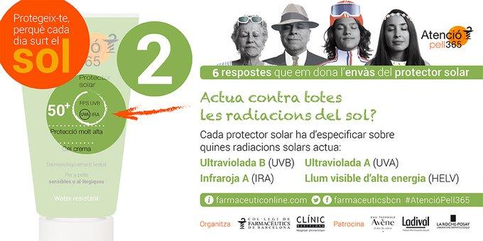 test Twitter Media - @hospitalclinic @LaRochePosay_ES @Ladival_ES @AveneEspana 💡A l'estiu 🏖️ i tot l'any 🗓️, recorda 6 respostes que et dona l'envàs del protector solar: 2⃣Aquest protector actua contra totes les radiacions del sol ☀️?   [Si vols conèixer més sobre la campanya #AtencióPell365 👉https://t.co/5WuxmePU08] https://t.co/9770zRnalc