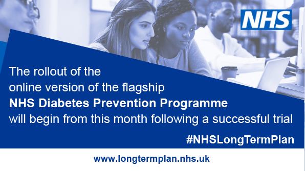 test Twitter Media - Digital #diabetes prevention rolled out.  Thousands of people who are at risk of #Type2Diabetes will receive digital support to prevent them developing the condition as part of the NHS Long Term Plan. #T2Diabetes #Type2 @NHSDiabetesProg   Information: https://t.co/iu4JrOMDqO https://t.co/teoAoI6jRK
