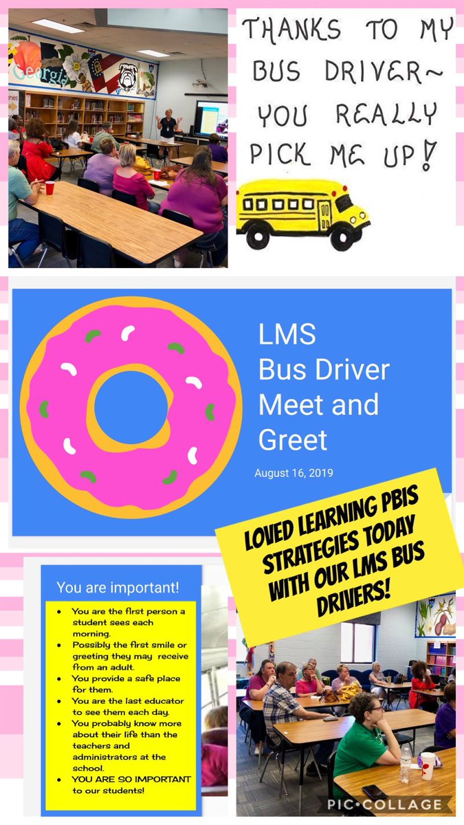 Awesome Meet and Greet today with our @LeeMiddle bus drivers! @CowetaSchools #ItTakesAVillage #Leadthepack https://t.co/dBJdTZ3cvV