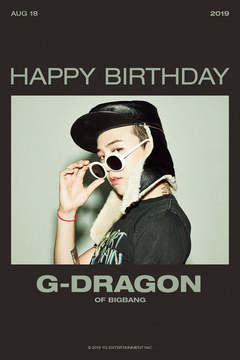 test Twitter Media - HAPPY BIRTHDAY G-DRAGON 🎉 2019.08.18  #BIGBANG #빅뱅 #GDRAGON #지디 #HAPPYBIRTHDAY #YG https://t.co/sfPniL7Alo