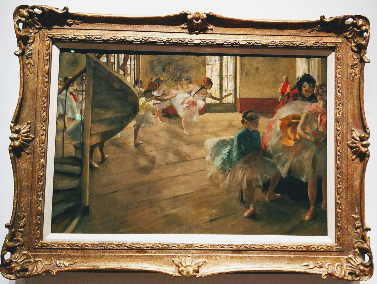 test ツイッターメディア - 静美のバレル·コレクション展で唯一撮影OKだったドガの「リハーサル」ドガは踊り子描かせたら天下一品だなぁ。 https://t.co/O0wi3QDdPI