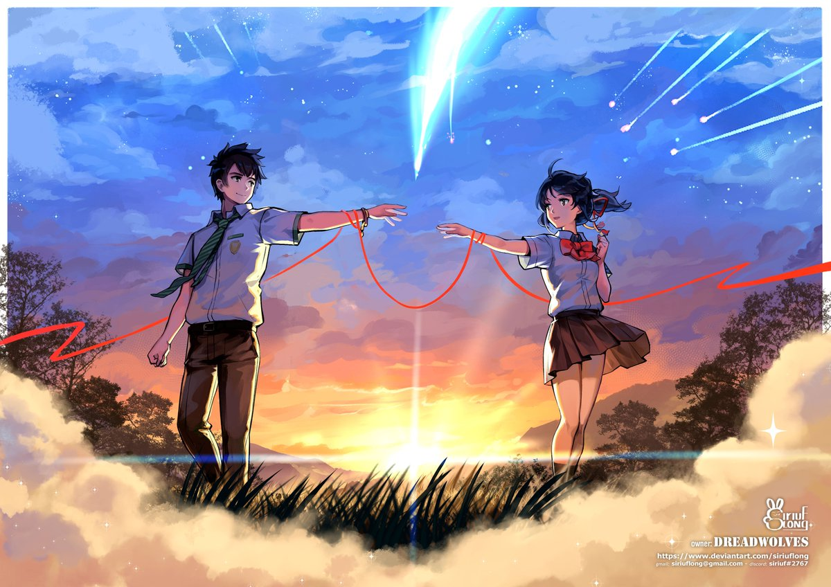 test Twitter Media - done this piece  commission done for Dreadwolves worry when doing background, but result turn out look Ok 😇 #kiminonawa #mitsuha #taki #sunset #shootingstar https://t.co/Yx2HAvvXpv