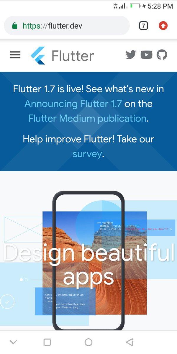 @marktechson @FlutterDev @androidstudio Flutter journey started!! https://t.co/kzMnY3d36F