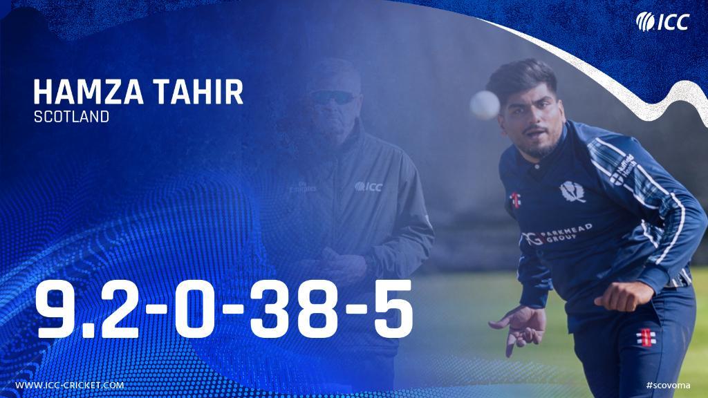 Career best ODI figures for Scotland's Hamza Tahir today!  Well bowled 👏   Scorecard ➡️ https://t.co/3pOaP1X2x5 https://t.co/6J7ciTbd8u