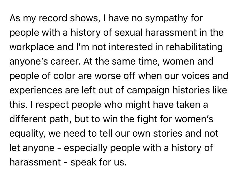 RT @maxwelltani: Amanda Renteria's statement on participating in the Halperin book https://t.co/oMODGFkk8S https://t.co/MxihdcfrLx