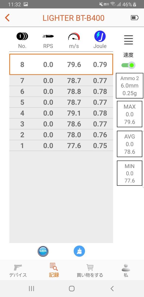 test ツイッターメディア - 今日買ったACETECHのLIGHTER BTで次のサバゲに持ってくウェポンの初速測ってみた 0.25gしか手元になかったorz  東京マルイ0.25g  VFC 電動MP7 FIRST バラクーダカスタム MAX 79.8(0.8J) AVG 79.1  東京マルイ ハイキャパE NEOXカスタム MAX 69.2(0.6J) AVG 68.7  #看護学生提督の1日 https://t.co/tEgUJhfdRj