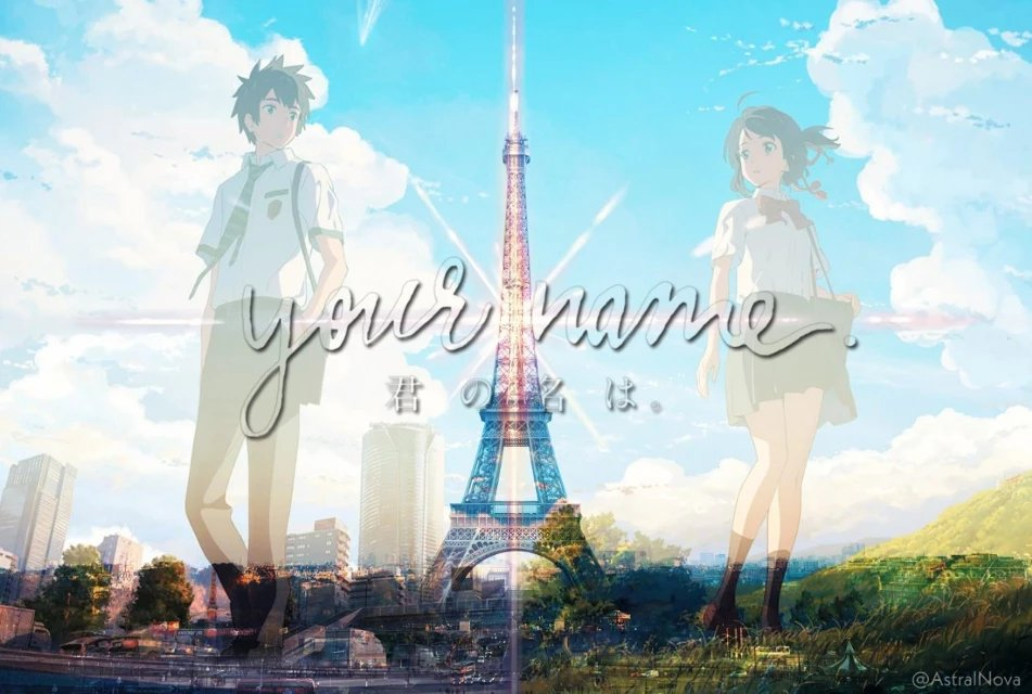 """test Twitter Media - """"Kimi No Na Wa (Your Name) x Eiffel Tower""""  My 2nd entry to PicsArt's 'Travel The World' editing challenge!  Both the background scenery and movie screams love. So why not make a simple mashup wallpaper edit of it right? 😍💕  #PicsArt  #anime #KimiNoNawa #eiffeltower https://t.co/ccUl6qoBwo"""