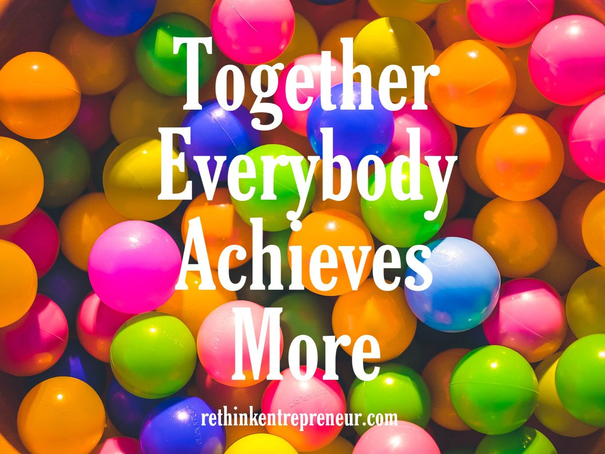 RT @Rethinkblogger: One way to accelerate success is team work #Thrivetogether #SuccessTRAIN #MondayMotivation https://t.co/wDYnSmVN9Y