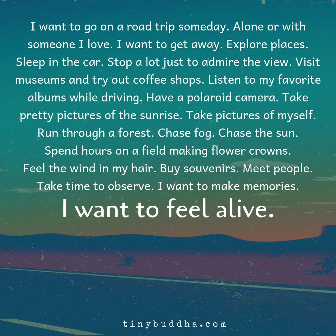 I want to go on a road trip someday. Alone or with someone I love. I want to get away. Explore places. Sleep in the car. Stop a lot just to admire the view. Visit museums and try out coffee shops. Listen to my favorite albums while driving. Have a polaroid camera... https://t.co/pM80iFNWJE