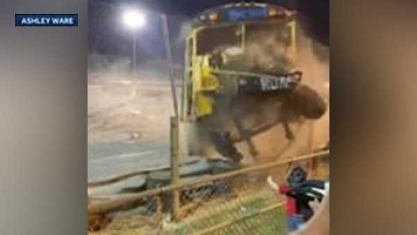 test Twitter Media - Sacramento News Crazy video: Driver loses control, crashes through fence during Zombie School Bus races https://t.co/e2kPOOyZIN https://t.co/rlM4PChrJ9