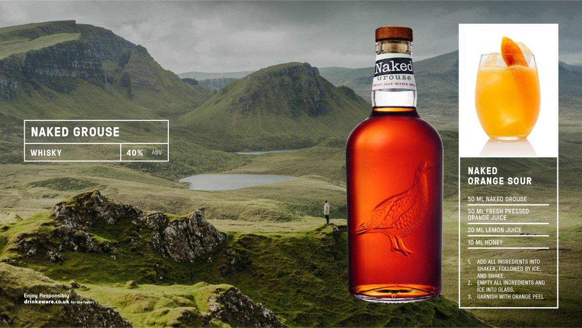 Naked Grouse is rich, rounded & downright drinkable. Orchard fruits open up the aroma before ushering in buttery toffee tones & bready notes. Sipping it coaxes out Christmas cake flavours, fingers of fudge & apple pie. #bestofbritain  See more here https://t.co/mKv6R9aXEp https://t.co/1f4nBFl9ug