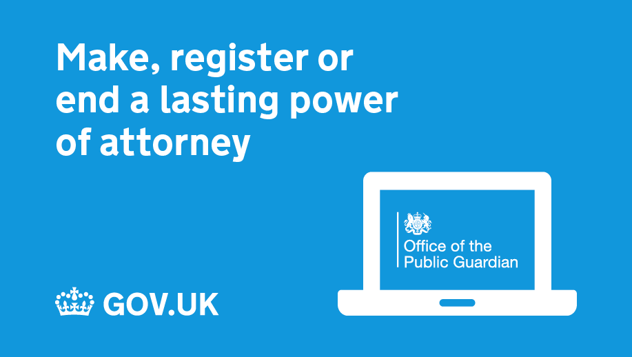 For information on how to make, register or end a lasting power of attorney visit: https://t.co/k1XTqUOHNj @OPGGovUK https://t.co/7gVDkNtgXU