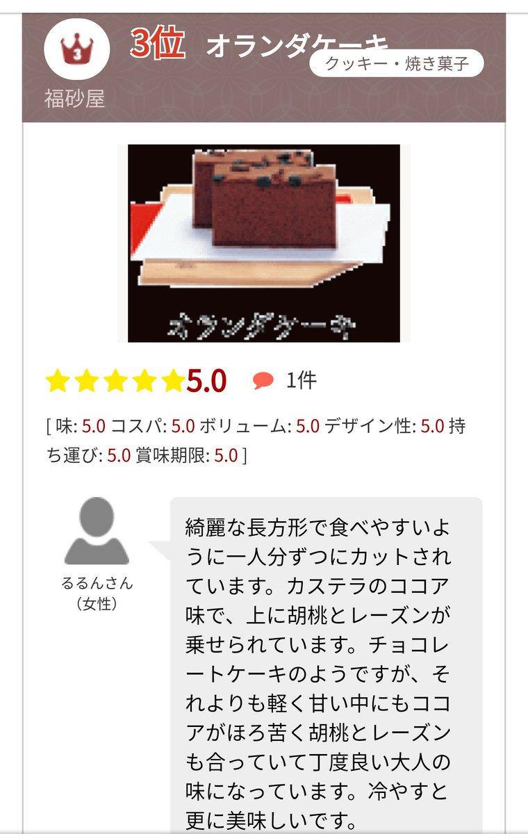test ツイッターメディア - なんでイオンとなみ(富山)で買えるお土産ランキングが福砂屋のカステラ(長崎)に独占されてんのwwwwwwwwwwww https://t.co/399GnLTOHI