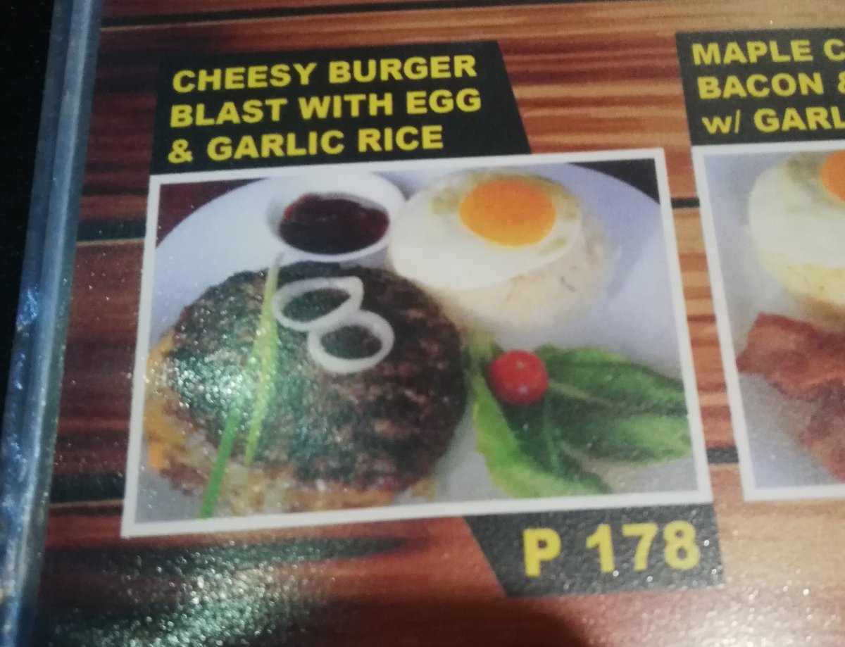 test Twitter Media - Where: Heaven Barbeque What: Cheesy Burger Blast with egg and garlic rice. Damage: Php178  Taste: ✳️✳️✳️✴️✴️ Price: ✳️✳️✴️✴️✴️ Portion/Size: ✳️✳️✴️✴️✴️ Would buy again? ❌❌❌ https://t.co/MxOU3h3rHS
